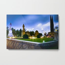 Oakland Cemetery at Night Metal Print