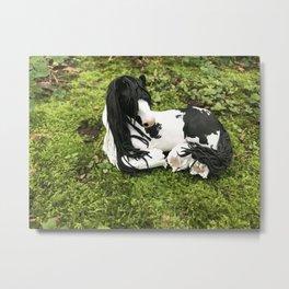 Audrey Gypsy Vanner Horse Metal Print