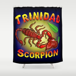 Trinidad Scorpion Red Shower Curtain