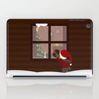 cabin iPad Cases featuring Holiday Cabin by Cecily Cloud