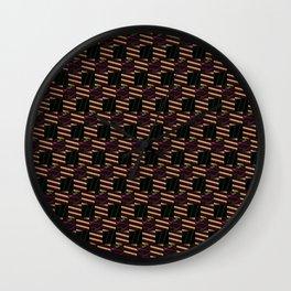 Texture pattern 01. Bronze Wall Clock