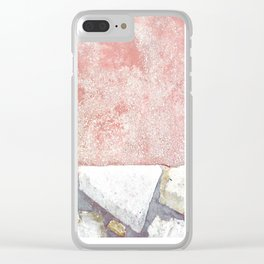 Abstract Pink Art Clear iPhone Case