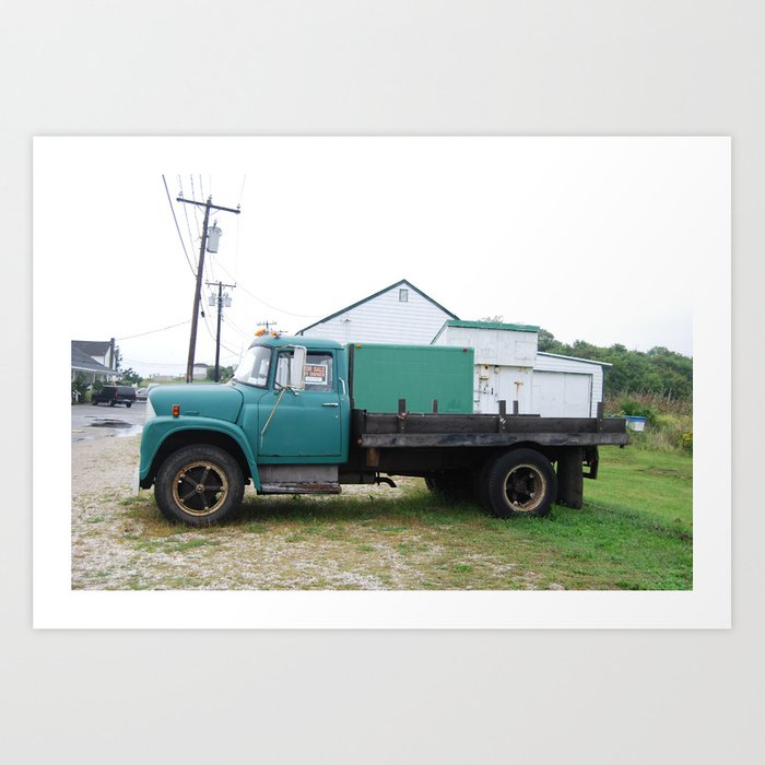 Truck, Montauk Art Print