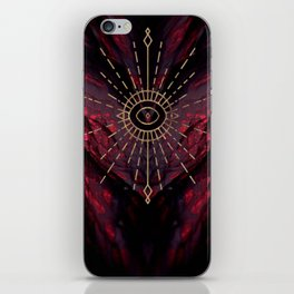 Scarlet Heart Mineral Eye iPhone Skin