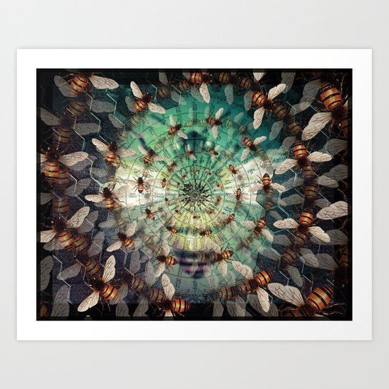 Bees: Masters of Time and Space Art Print