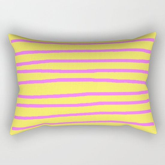 Modern Art Pillow : DECORATIVE PURPLE YELLOW MODERN ART Rectangular Pillow by SharlesArt Society6