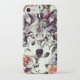 Floral Wolf iPhone Case