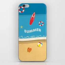 Summer Beach iPhone Skin