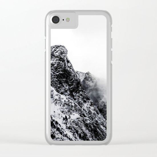 Mountain black white 5 photo Clear iPhone Case