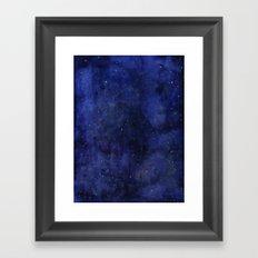 Galaxy Watercolor Nebula Texture Night Sky Stars Framed Art Print