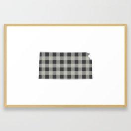 Kansas Plaid in Gray Framed Art Print