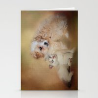 best friends Stationery Cards featuring Best Friends by Jai Johnson
