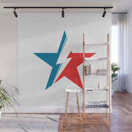 Bowie Star white Wall Mural