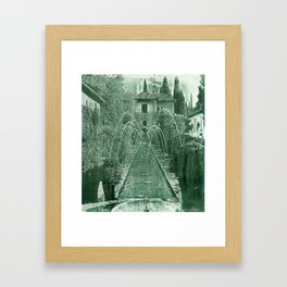 Generalife. The Alhambra Framed Art Print