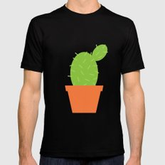 #7 Cactus MEDIUM Mens Fitted Tee Black