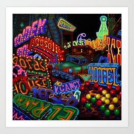 Vegas Graveyard Art Print