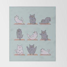 British Shorthair Cat  Yoga Throw Blanket