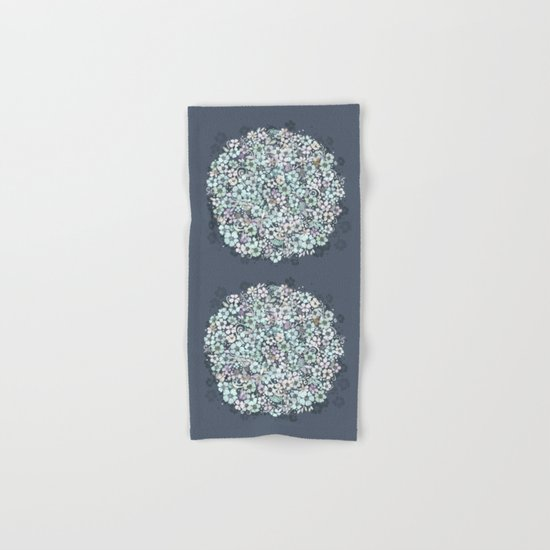 Flower Circle, mist blue Hand & Bath Towel