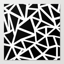 Ab Outline Thicker Black Canvas Print