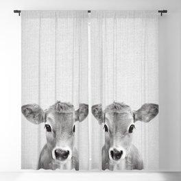 Calf - Black & White Blackout Curtain