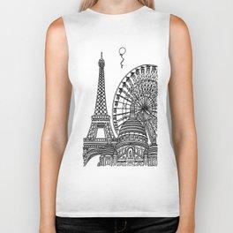 Paris Silhouettes Biker Tank