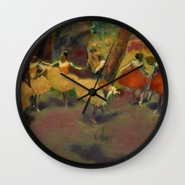 "Edgar Degas ""Before the performance"" Wall Clock"