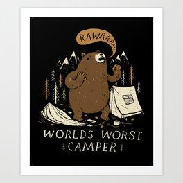 worlds worst camper Art Print