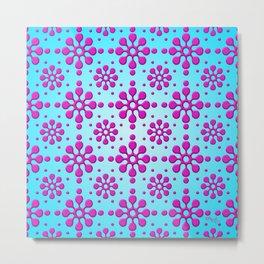 Pink Blotch Pattern by Xen™ Metal Print