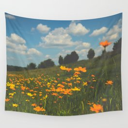 Dreaming in a Summer Field Wall Tapestry
