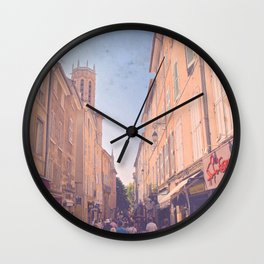 Wandering Provence Streets Wall Clock