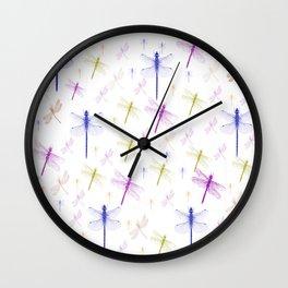 Dragonfly Pattern Wall Clock