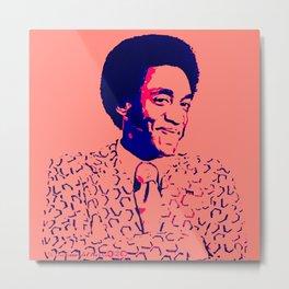 African American Afro Art - Bill - The Black Art Depot - Cosby  BLM 8800-665 Metal Print