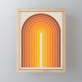 Gradient Arch - Vintage Orange Framed Mini Art Print