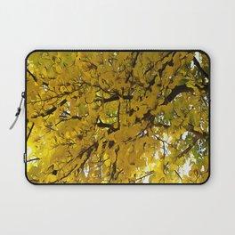 Liquid Amber Autumn Vibes Abstract Laptop Sleeve