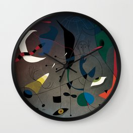 Miró's Ghost Wakes Up from a Bad Reality Wall Clock