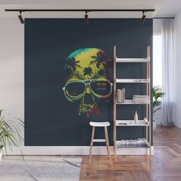 Summer Skull - Say yes to new adventures Wall Mural