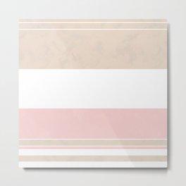 Beige, white, pink Metal Print
