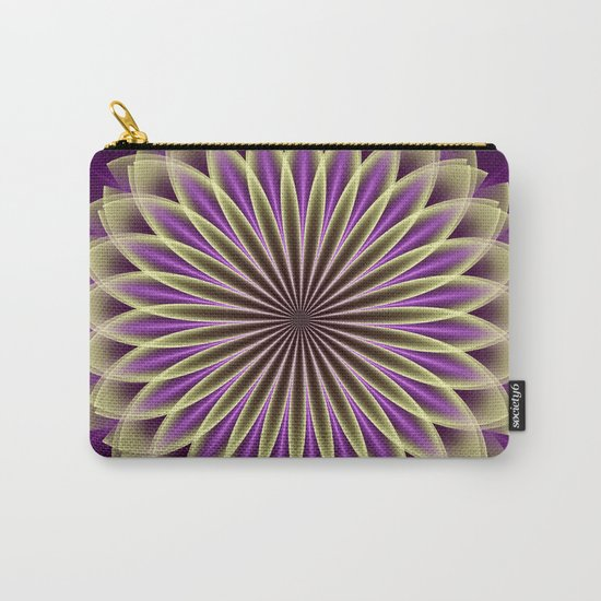 Magical geometric fantasy flower Carry-All Pouch