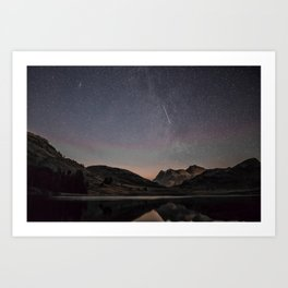 Mountain Lake Under the Stars Art Print