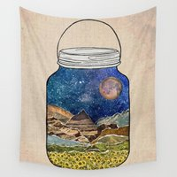 star Wall Tapestries featuring Star Jar by Jenndalyn