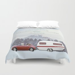 NEVER STOP EXPLORING - CAMPERS GONNA CAMP Duvet Cover
