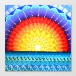 Sunrise Mandala, by Soozie Wray Canvas Print