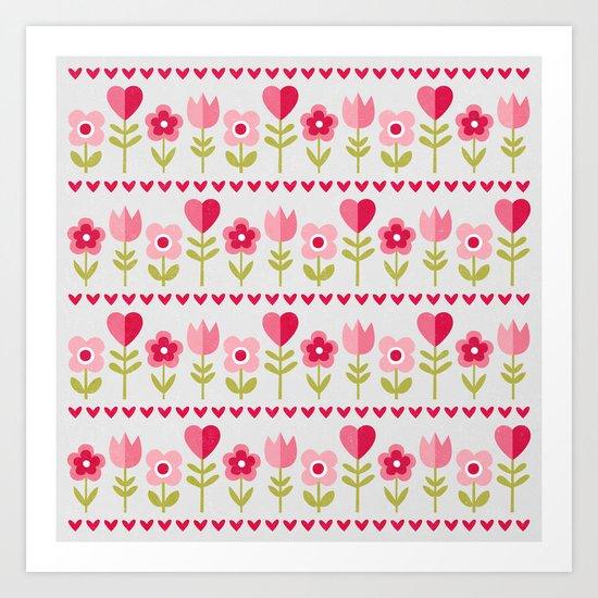LOVE GARDEN Art Print