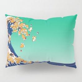 Christmas Shiba Inu The Great Wave Pillow Sham