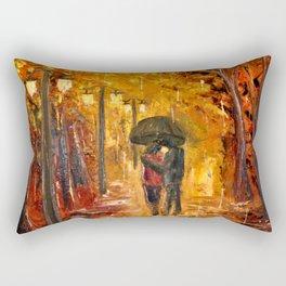 Les amoureux sous la pluie Rectangular Pillow