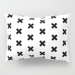 CROSS ((black on white)) Pillow Sham