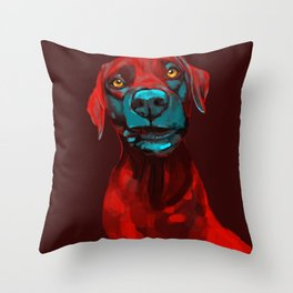 The Dogs: Rufus Throw Pillow