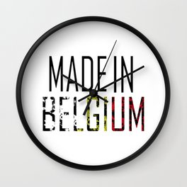 Made In Belgium Wall Clock