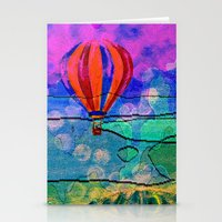 hot air balloons Stationery Cards featuring Hot Air Balloons #6 by Music of the Heart