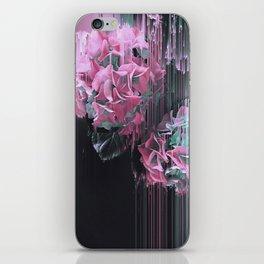 Glitch Pink Hydrangea iPhone Skin